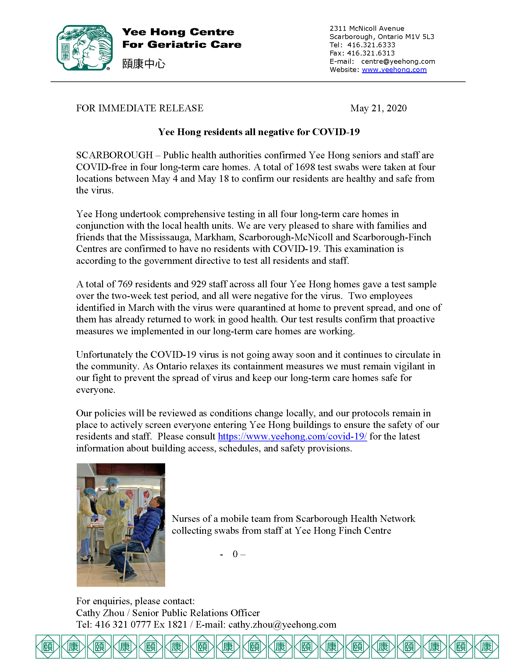 News Release May 21, 2020